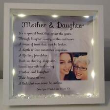 Mother and daughter personalised box frame, Mum christmas gift, Mum birthday,