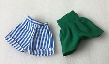 Sindy Doll Fantasia Green Shorts and Trends striped Shorts 1980s