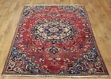 Persian Traditional Vintage Wool 222cmX 126cm Oriental Rug Handmade Carpet Rugs