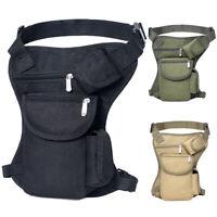 Molle Leg Bag Portable Waist Bag Messenger Pack Pouch for Outdoor Hikin N#S7