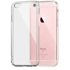 For iPhone SE 5s 6s 7 8 Clear Transparent Back Hard Case Silicone Bumper Cover
