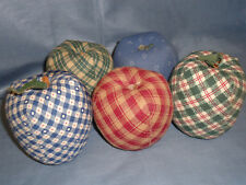 Apple Style Pin Cushion Pillow, Needle Holder, Set of 5, Sewing Craft, #1178-HMS
