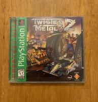 Twisted Metal 2 II (Sony Playstation 1 PS1) CIB Black Label
