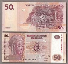 CONGO Democratic Republic 50 Francs UNC FDS 2000 BANKNOTE BANCONOTA Molto Bella