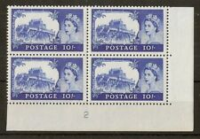 (L) GB 1967 10/- Castle Plate 2 MNH Block