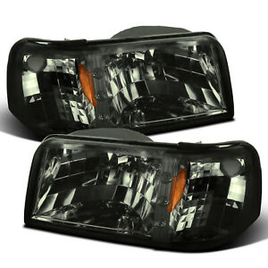 For 1993-1997 Ford Ranger 2in1 Style Smoke Headlights w/ LED+Corner Signal Lamps