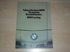 63050) BMW - Leasing - Prospekt 01/1980