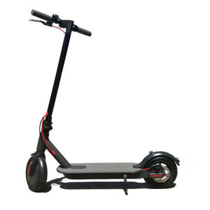 Electric Scooter Portable Foldable Commuter Bike 350W Brushless Motor Black