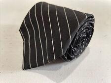 Calvin Klein Men's Black Stripe Silk Neck Tie $75