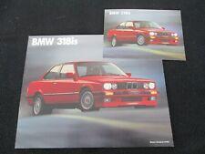 1990 BMW 318is 318i E30 Sales Brochure Sheet '90 3 Series Catalog & Postcard Set