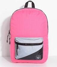 Herschel Backpack Settlement Mid Neon Pink Reflective Book School Bag Laptop New
