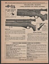 1958 MOSSBERG Model 2M4 and 4M4 Telescope Rifle Scope Vintage PRINT AD