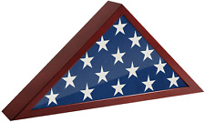 New listing Usa American Us Folded Memorial Flag Triangle Display Case Box Burial Casket