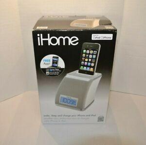 Brand New iP21 ipod iPhone iHome Speaker Base Silver Gray 100-240v Universal
