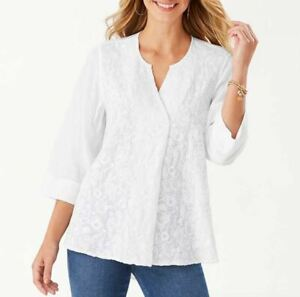 NEW Tommy Bahama Women's A Vine Frenzy Embroidered Tunic Size XL