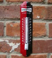 CHAMPION ENAMEL THERMOMETER spark plug thermometer vitreous oil garage VAC162