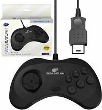 Retro-Bit Official Sega Saturn Controller Pad - Original Port - Black
