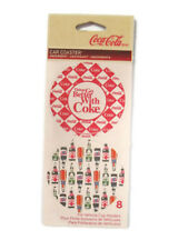 Coca-Cola  Vehicle Cup Holder Coasters-Set of 8 BRAND NEW