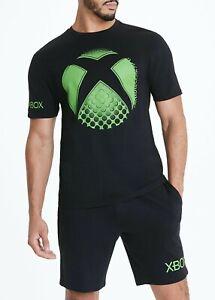 Mens Green Xbox Pyjama Set Pyjamas Nightwear Pyjs Small-2XL