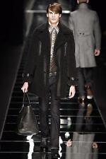 John Richmond Reverse Shearling Leather Jacket Grey EU52 XL RRP £4200 sheepskin