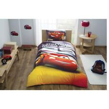 Single Twin Kids Original CARS LIGHTNING Mcqueen 100% Cotton Duvet Cover Bed Set