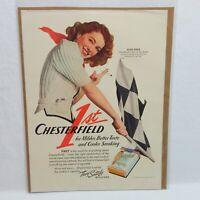 1941 CHESTERFIELD CIGARETTE LIGGETT & MYERS TOBACCO COMPANY ADVERTISEMENT