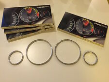 BMW E39 CHROME instrument gauge ring Dash rings Trim 520 523 525 530 CLIP