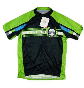 Primal Green Black Full Zip Pocket Jersey INFINITE MPG Size Mens XL NWT 75$