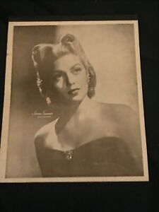 LANA TURNER 1940's school pad notebook UNUSED Gorgeous