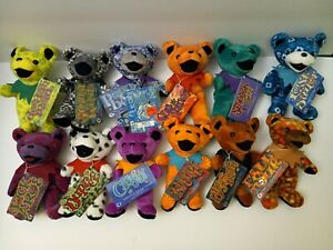 Grateful Dead Bear Plush Liquid Blue Lot Of 12 rare hard to find all with tags