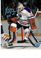 NHL Edmonton Oilers Goalie Grant Fuhr Hof 03 Signed 8x10 Photo