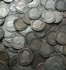 More details for pre 1920 british silver coins - victoria threepence - 925 sterling - not scrap