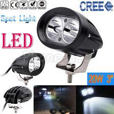 CREE 20W Spot LED Work DRL Light Car Truck Boat Driving Fog Offroad SUV 4WD Bar