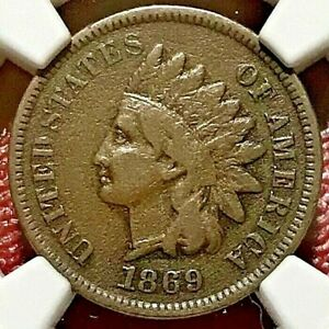 1869 INDIAN HEAD CENT NGC VF