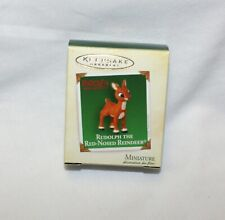 Hallmark Christmas Ornament Rudolph Red Nosed Reindeer 2005 Mini Holiday Memory