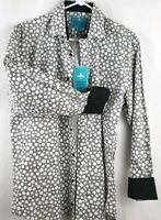 Christian Aujard Paris Men's Shirt Long Sleeve Button Up Flip Cuff Size M