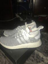Adidas Nmd_R2 Primeknit Sneakers Casual   Sneakers Grey Mens - Size 11