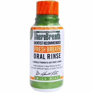 TheraBreath, Fresh Breath Oral Rinse, Mild Mint Flavor , 3 fl oz (88.7 ml) Uk