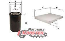Set S: Ölfilter+Innenraumfilter Filterset AUDI SEAT SKODA VW