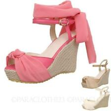 Buckle Platforms & Wedges Casual Solid Shoes for Women