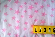 Soft Cotton Jersey Knitted Fabric Pink Star Print - 150cm Wide New by Dcf