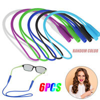 6x Glasses Silicone Strap Neck Cord Sunglasses Eyeglasses String Rope Sport Safe