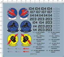 1:48 USAF US Air Force F-14 VF-1 VFA-213 Tomcat Fighter Model Kit Marine Decal