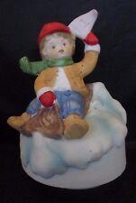 Downhill Sledder Music Box plays Jingle Bells