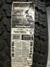 1 New 255 70 18 Goodyear Wrangler Silent Armor Tire