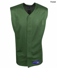 New Mizuno Green Mens Size- Medium Polyester Mesh Sleeveless Baseball Jersey