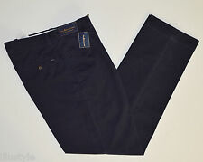 NWT POLO RALPH LAUREN men Casual Pants Navy Blue, W32 x L32, Classic Pleated Fit
