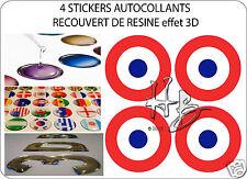 FRANCE Force Aérienne Avion Cocarde 50mm Sticker Autocollant X4 en resine