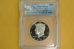 2009 S Kennedy Half Dollar ICG PR70 DCAM