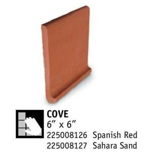 Quarry Cove Base Tile Red, Coral and Dune 6 x 6 Bullnose Baseboard Antibacterial